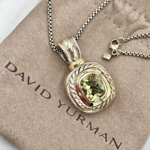 David Yurman 14K/Sterling Silver Prasiolite Albion